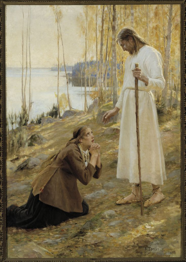 Thinglink - Albert Edelfelt: Kristus ja Mataleena (1890)