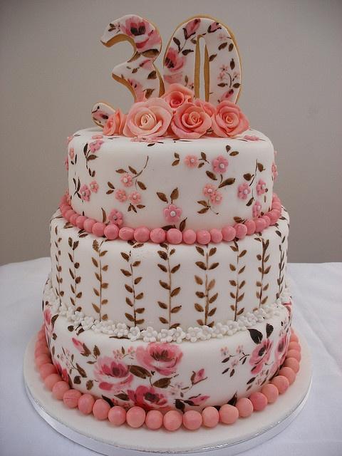 Tartas de cumpleaños - Birthday Cake - roses
