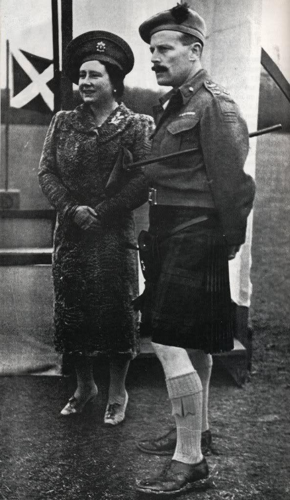 Her Majesty Queen Elizabeth with Brigadier James Oliver, Black Watch