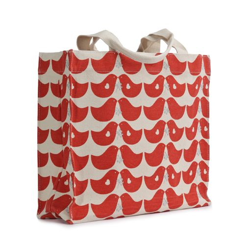 tote - lovebird red: Totes 100, Bees 100, All Eco, Organizations Cotton, Bees Canvas, Bees Lovebird, All Canvas, Lovebird Red, Lovebird Totes