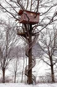 Coolest treehouse ever amandaleigh820Spirals Staircases, Spirals Stairs, Trees Forts, Tree Houses, Dreams House, Treehouse, Deer Hunting, Trees House, Deer Stands