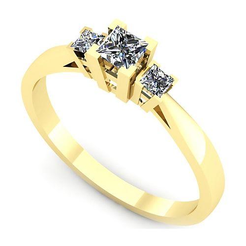 Inel logodna L53GDI Inel cu trei diamante