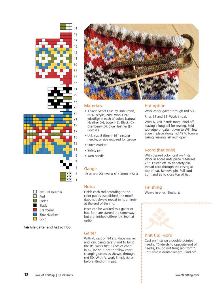 193 best Knitting Fair isle images on Pinterest | Knit patterns ...