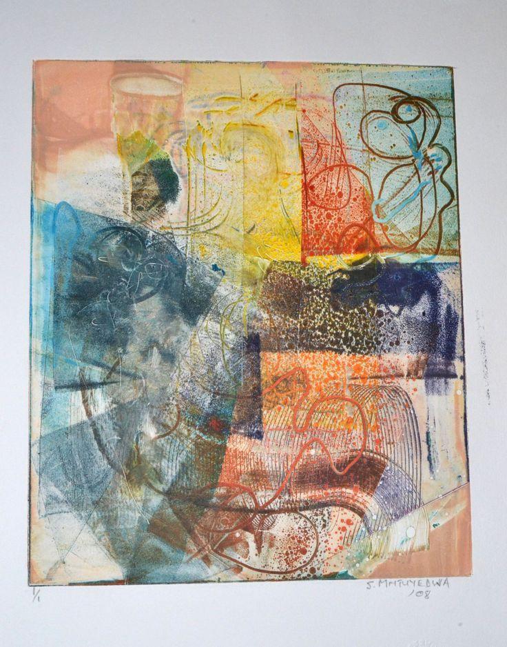 Sello Mntuyedwa Monoprint.