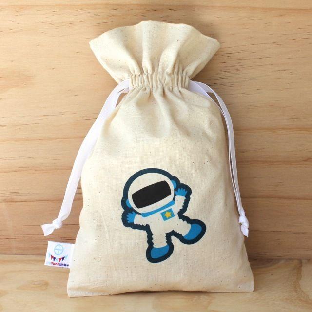 Space Calico Drawstring Bag