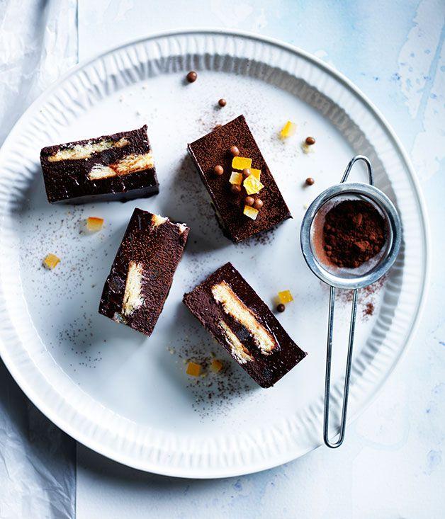 Chocolate-orange truffle slice