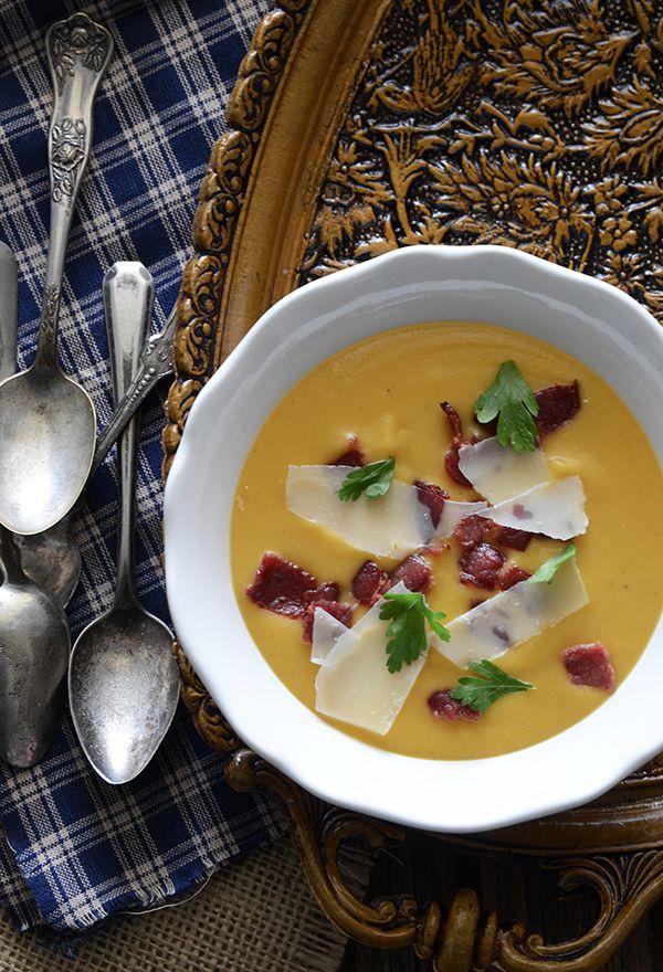 Creamy Sweet Potato Soup #recipe