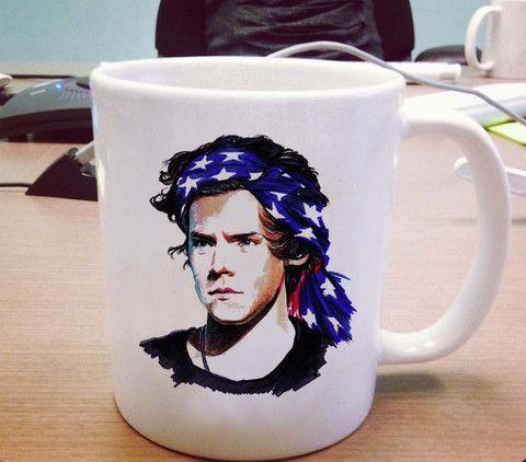 Harry styles flag one direction Ceramic Mug #mug #ceramicmug #ceramic #coffemug #teamug #cup #funnymug