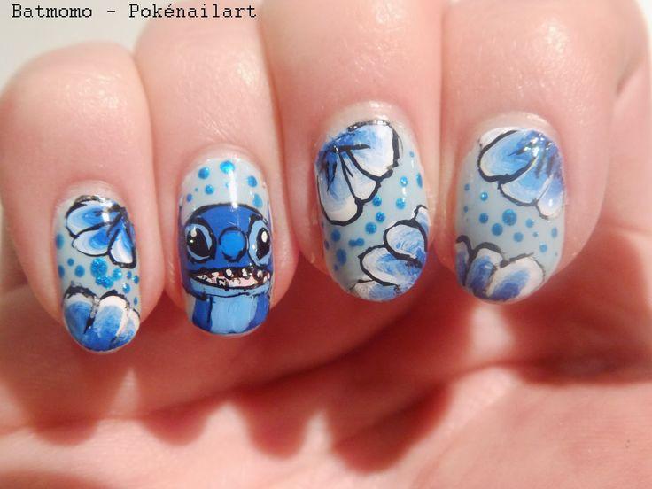 disney manicure - lilo and stitch nail art   Nailed It ...
