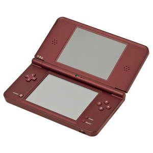 Nintendo DSi XL Burgandy Handheld System w/ Charger