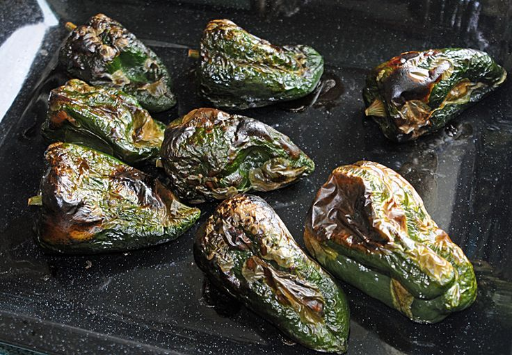 Charring and freezing Poblano peppers for use over the winter. - shizzling - (mis)adventures in food