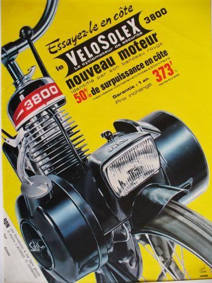 PUB SOLEX 1966 Paris match n°? #velosolex #moped #knallerter