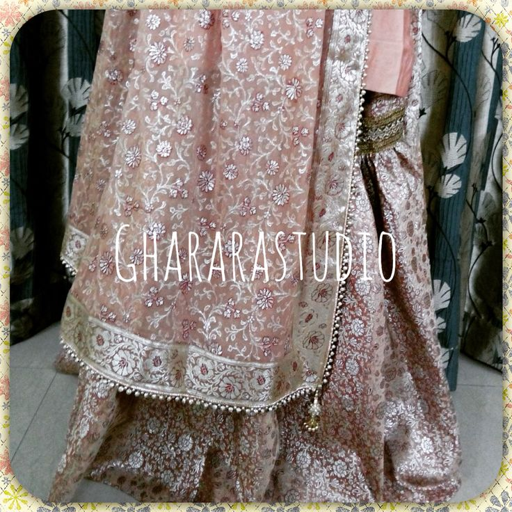 Sober and light Gharara for party. Gift this beautiful piece to your mother.  TO ORDER/ENQUIRY: ☎️/Whatsapp 9971865919  ghararastudio@gmail.com  ✉️ Inbox in Facebook  Provide your email id #Gharara #ghararastudio #ghararalovers #gharara4u #gifturmother #party #partywear #partydress #partygharara #bride #bridal #bridalgharara #indianbride #indiafashion #indianbeauty #fashion #style #sober #elegant #classy #royalgharara #picoftheday #instapic #instalike #instalove #instagharara #browngharara #