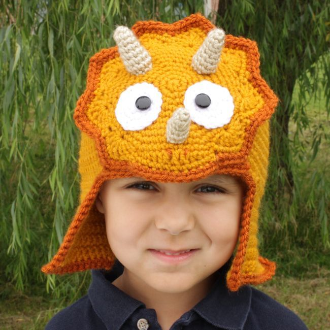 Colorful Dinosaur Knit Hat Pattern Gift Sewing Pattern Dress Ideas
