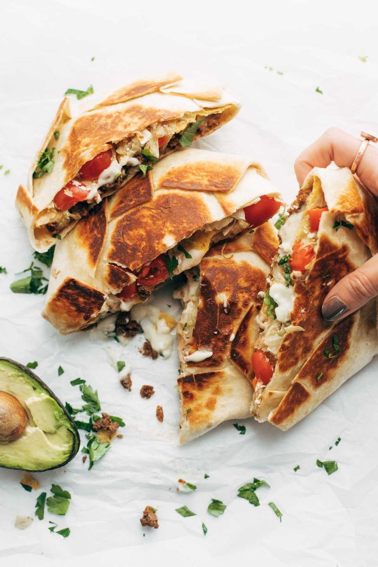 crunchwrap supreme -  try a veg version using veggie crumbles or veg chorizo...plus it needs more veggies and greens...