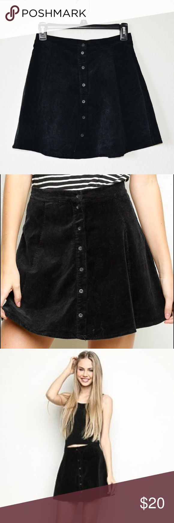 Brandy Byra Corduroy Skirt Worn a few times 9.8/10 condition Easily collects dust/lint but not so noticeable No other known flaws •••REFER TO POLICIES before asking any questions Brandy Melville Skirts Circle & Skater