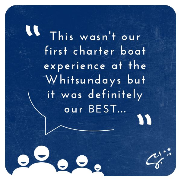 Thank you to Mark & Nicky Congdon for the kind words! Would you like to see what the fuss is about? Book your yachting adventure here: bit.ly/CYA_ #CharterYachtsAustralia #Travel #SeeAustralia #LoveWhitsundays