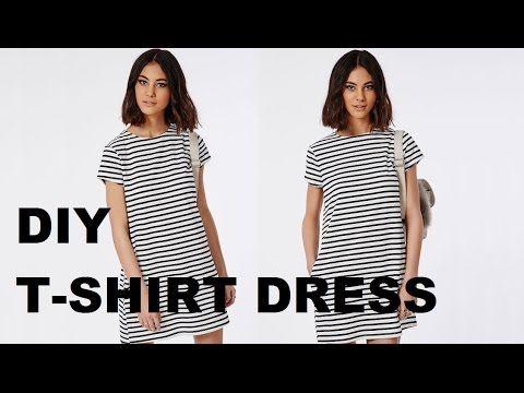 DIY | HOW TO MAKE A T-SHIRT DRESS - YouTube