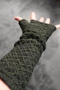 Alpaca Beehive Knit Long Arm Warmers
