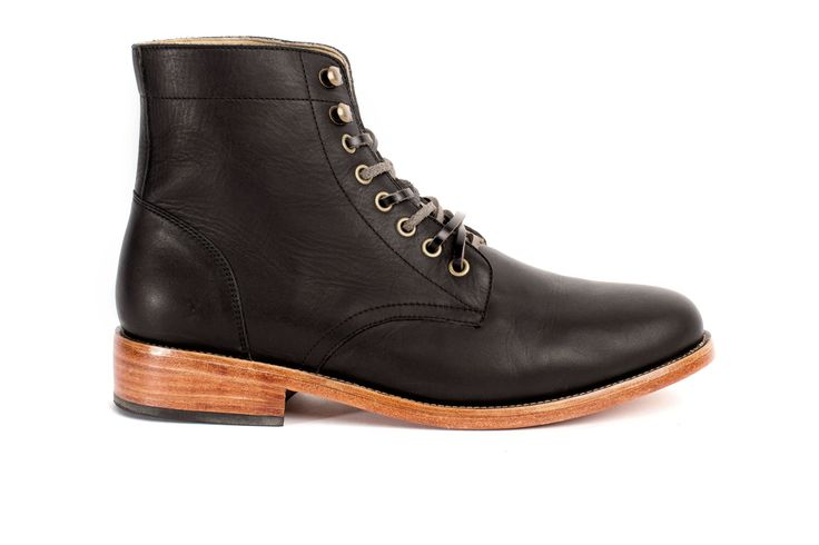 Lockwood Trench Boot Noir from Nisolo
