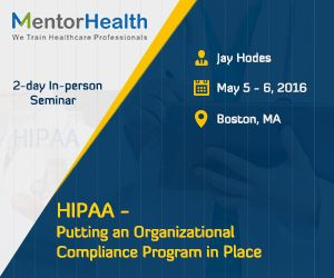 Being in compliance with HIPAA involves not only ensuring you provide the appropriate patient rights and controls on your uses and disclosures of protected health information, but you also have the proper policies and procedures in place. http://www.mentorhealth.com/control/globalseminars/~product_id=200063SEMINAR