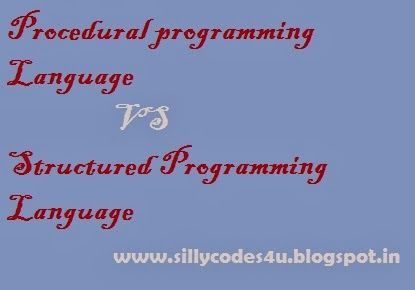 Procedural programming Language vs Structured Programming Language