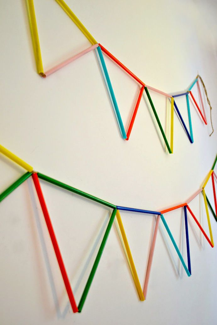 Make Your Own Drinking Straw Art