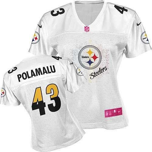 e6121bb42 ... Jersey Womens Nike Pittsburgh Steelers 43 Troy Polamalu Elite White Fem  Fan Jersey99.99 ...