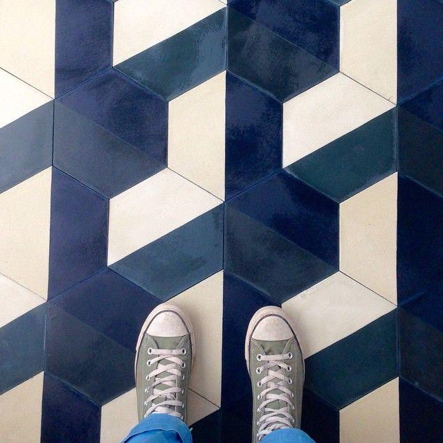 Popham Design DEMI HEX in a Paris palette #hexagon tile