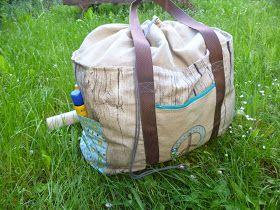 Türü!   Heute habe ich endlich mal wieder eine Nähanleitung für euch. Nämlich für eine Strandtasche mit Tunnelzug. Ich habe ja euch beim let...