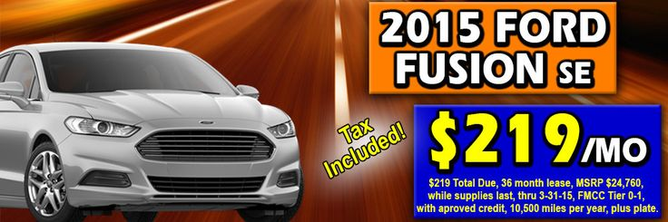 Ford Fusion SE Lease Deal at Lasco Ford in Fenton, MI 48430