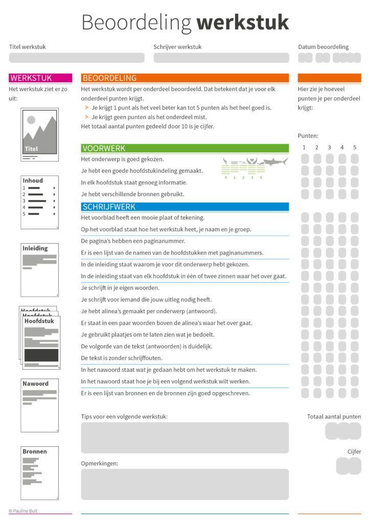 beoordeling-werkstuk