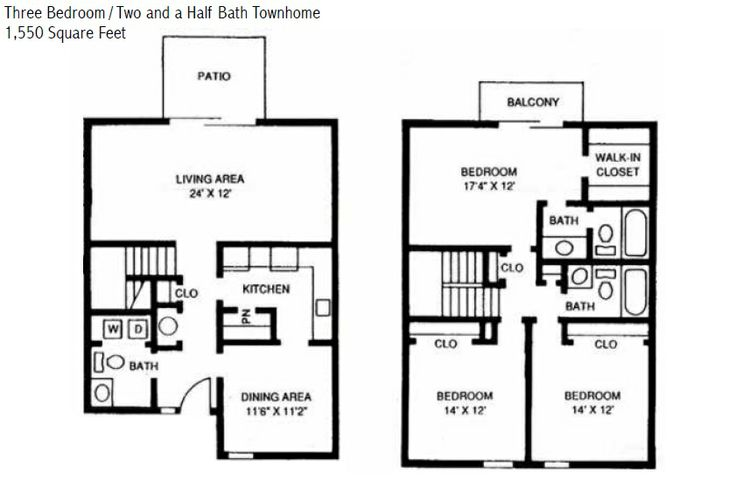 17 best images about willow lake apartments on pinterest for Apartment townhouse plans