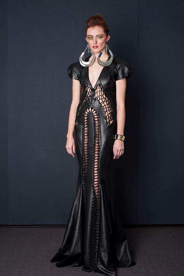 Surasit Liphan # leather evening dress cut out 2013