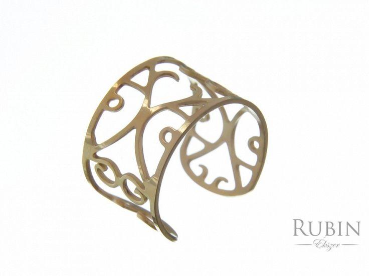 Arany színű állítható nemesacél gyűrű