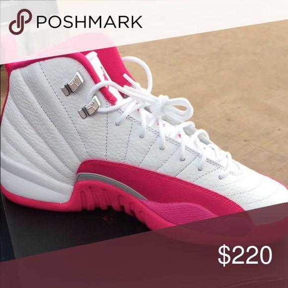 Pink & white 12s , size 7.5- never worn . Pink & white Jordan 12s size 7.5 perfect condition never worn. Jordan Shoes Sneakers