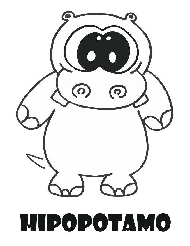 Pin De Aracely Aguiilar En Dibujos En 2020 Hipopotamos Dibujo