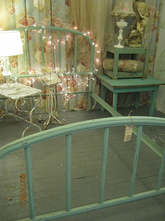 This Celadon green is one of the most popular colors used on iron beds back in the late 1800's and early 1900's.