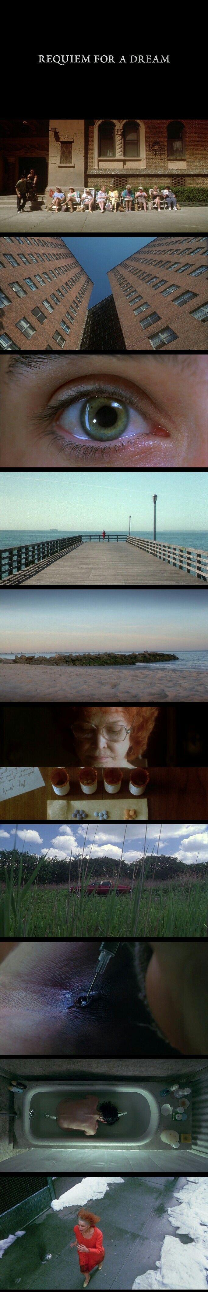 Requiem for a Dream(2000) Directed by Darren Aronofsky. Cinematogrphy by Matthew Libatique.