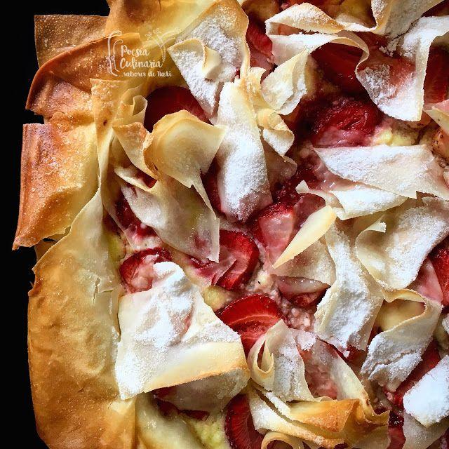 Paladares {Sabores de nati }: Gibanica de ricota y fresas, un postre encantador de Montenegro. ricota, queso ricota, tarta de ricota, queso, fresas, mermelada, mermelada de fresas, #Montenegro, cocina internacional, tarta, tarta de queso, masa filo #strawberry #fresas #ricotta #phyllo #phyllodough