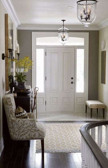 Turn my double door entry into a single door with frosted side windows.  It would really brighten up the stairwell.