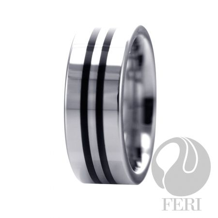 FERI Tungsten - Ring - Tungsten ring - Shell inlayed - Dimension: 8mm (Width)  FERI Tungsten, Plangsten and Hi-Tech Ceramic collections are unique with deep luster from within. The flawless features and indestructible nature of FERI Tungsten, Plangsten and Hi-Tech Ceramic pieces will create an everlasting beauty and confidence.  www.gwtcorp.com/ghem or email fashionforghem.com for big discount