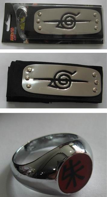 Naruto Ring And Headband NARH3046