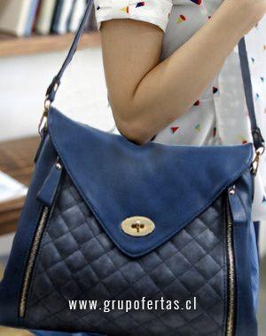 cartera azul