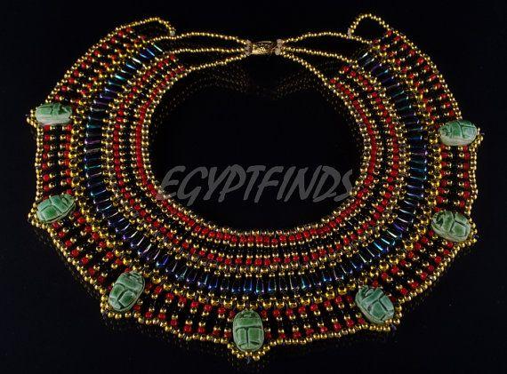 DazzlingEgyptian Cleopatra escarabajos 7 collar Collar de
