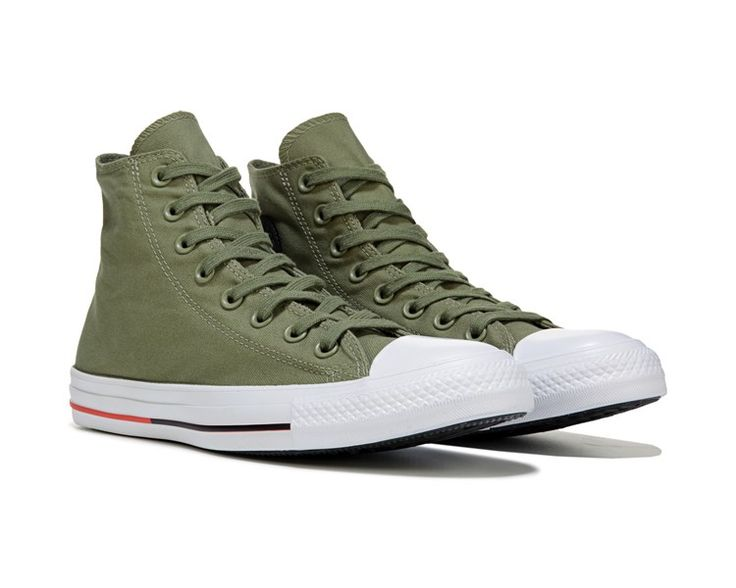 Converse Chuck Taylor All Star Shield Canvas High Top Sneaker Green/White/Red