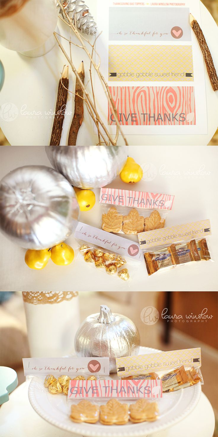 Free DIY Thanksgiving Gift Idea Printable Bag Topper #thanksgiving #christmas #holiday #fashion  #gift #pariscoming