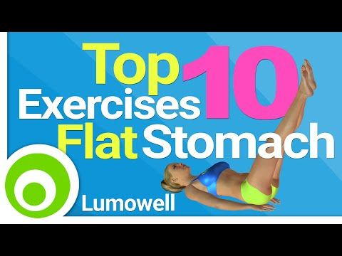 Top 10 Exercises For A Flat Stomach: Best Exercises to Lose Belly Fat - YouTube