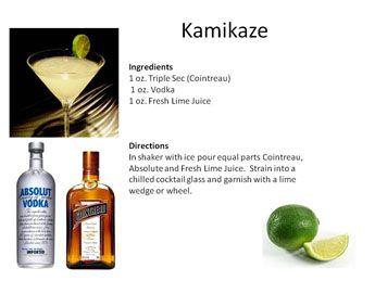 Kamikaze - Green for St Patricks Day | Midnight Mixologist