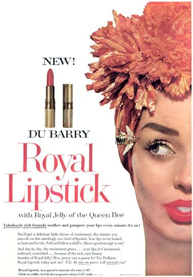 DuBarry 'Royal' Lipstick Ad, 1958